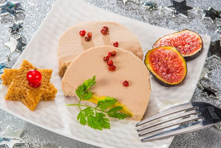Foie gras, pain d'épices, miel et figues