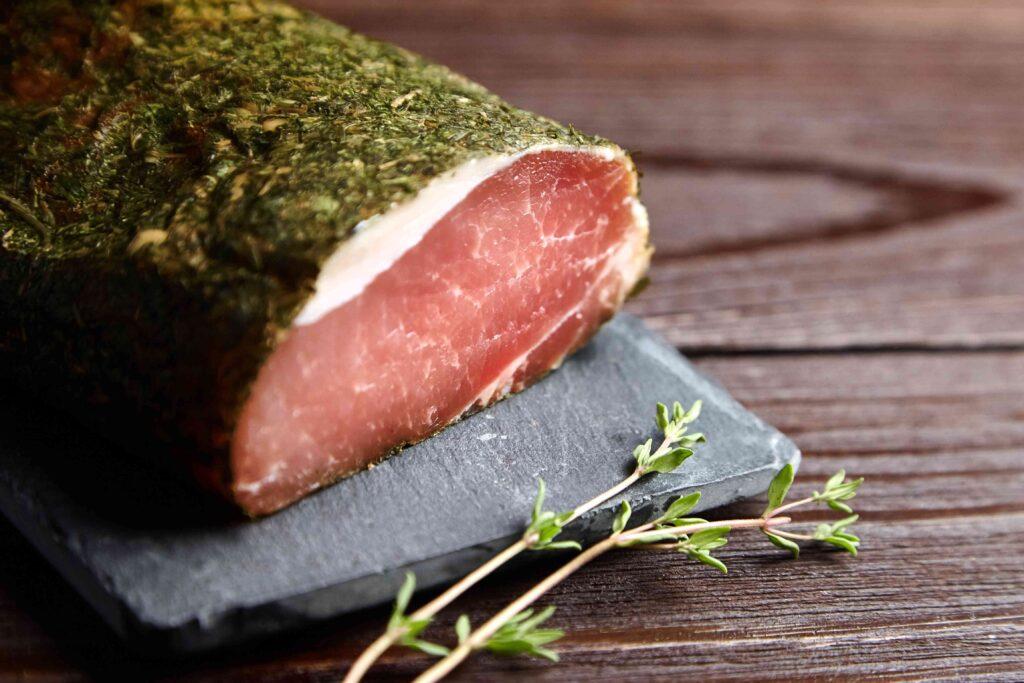 filet mignon de porc séché aux thyms