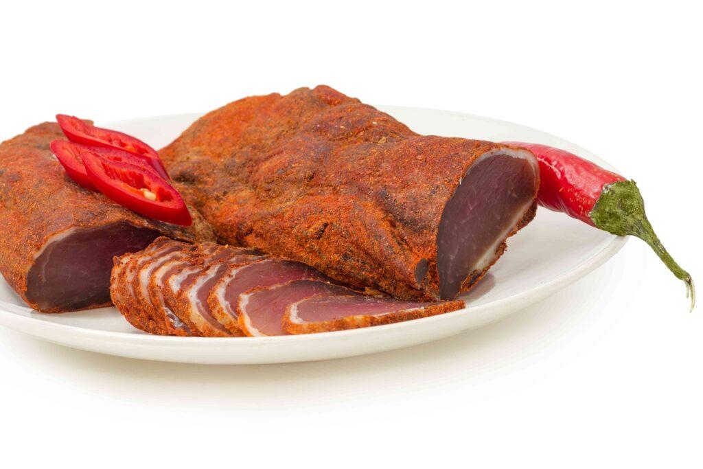 viande de porc séchée au piment d'Espelette